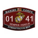 USMC MOS 0141 Administration Man Patch