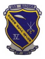 USS Badger FF-1071 Ship Patch