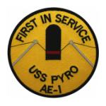 USS Pyro AE-1 Ship Patch
