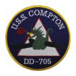 USS Compton DD-705 Ship Patch