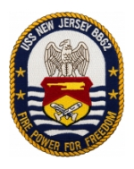 USS New Jersey BB-62 Ship Patch