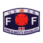 USCG Rate FF Fire & Safety Specialist Patch
