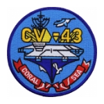 USS Coral Sea CV-43 Ship Patch