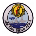 USS San Diego AFS-6 Ship Patch