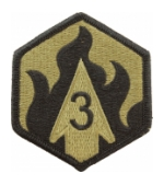 3rd Chemical Brigade Scorpion / OCP Patch With Hook Fastener