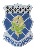 123rd Armored Regiment (Esto Perpetuls) Patch