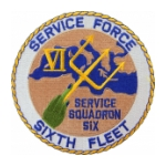 Navy Service Force Sixth Fleet (Service Squadron Six) Patch