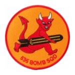 Air Force 535th Bombardment Squadron Patch