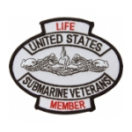 Life Member United States Submarine Veterans Patch