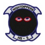 Navy Helicopter Anti-Submarine Squadron Patch HS-5
