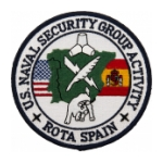 Naval Security Group Activity Rota Spain Patch