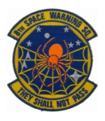 Air Force 8th Space Warning Squadron Patch ( With Hook Fastener )