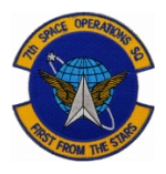 Air Force 7th Space Warning Squadron Patch ( With Hook Fastener )
