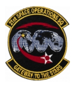 Air Force 21st Space Operations Squadron Patch ( With Hook Fastener )