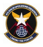 Air Force 4th Space Operations Squadron Patch ( With Hook Fastener )