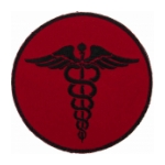 EMS Red Morale Patch With Hook Backing