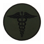 EMS Olive Drab Green Morale Patch With Hook Backing