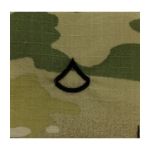 Army Scorpion Private First Class E-3 Rank Sew-On (Unfinished Edge)