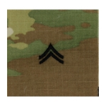 Army Scorpion Corporal E-4 Rank Sew-On (Unfinished Edge)