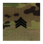 Army Scorpion Sergeant E-5 Rank Sew-On (Unfinished Edge)