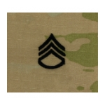 Army Scorpion Staff Sergeant E-6 Rank Sew-On (Unfinished Edge)