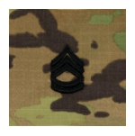 Army Scorpion Sergeant First Class E-7 Rank Sew-On (Unfinished Edge)