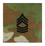 Army Scorpion Master Sergeant E-8 Rank Sew-On (Unfinished Edge)