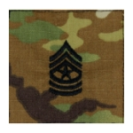 Army Scorpion Sergeant Major E-9 Rank Sew-On (Unfinished Edge)