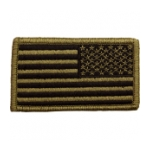 American Flag Reversed Scorpion / OCP Patch With Hook Fastener