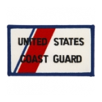 Coast Guard Patch - Rectangle w/ Orange Slash