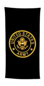Military Logo Beach Towels