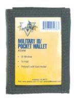 Military ID Pocket Wallet (Black)
