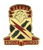 Deeds Above Words 0108 Air Defense Artillery Group Unit Crest