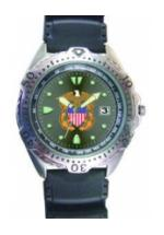 RAM Diver Watch with Date Display (Navy)