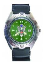 RAM Diver Watch with Date Display Green Face (Army)