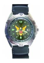 RAM Diver Watch with Date Display Grey Face (Navy)