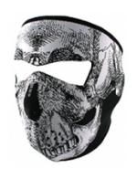 Neoprene Face Mask (Black and White Skull)
