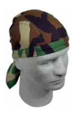 Woodland Camouflage Headwrap