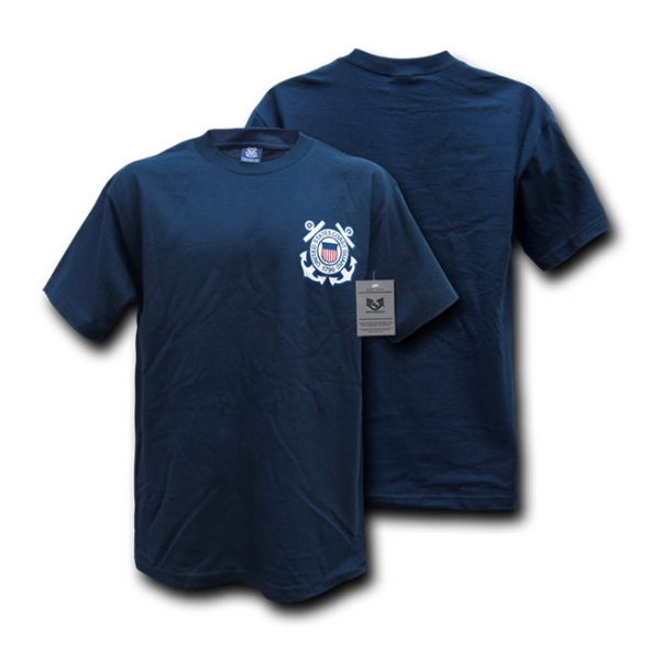 Rapid Dominance Coast Guard Logo T-Shirt (Navy Blue)