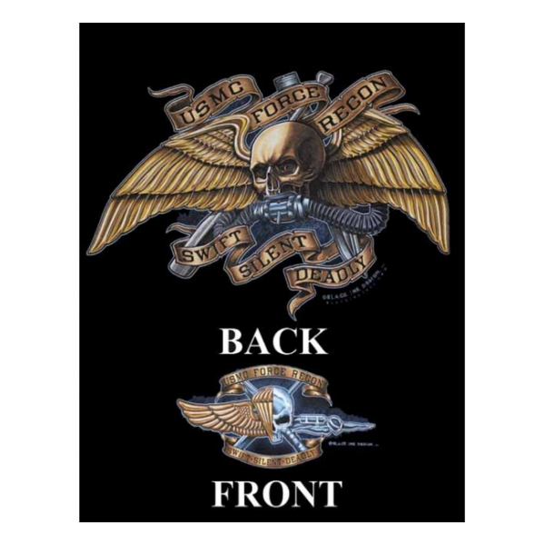 USMC Force Recon T-Shirt (Black Ink Design)