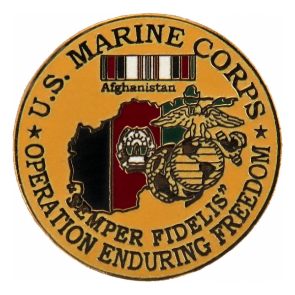 Operation Enduring Freedom U.S. Marines Pin