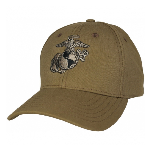 Marine Corps Eagle Globe and Anchor Cap (Coyote Brown)