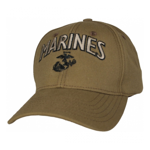 Marines Cap with EGA (Coyote Brown)