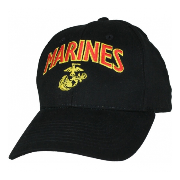 Marines Cap with EGA (Black)