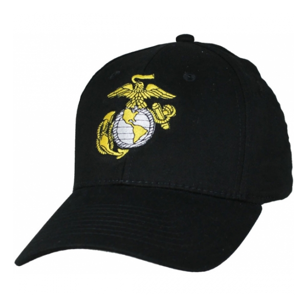 0abe2d1b5c7 Marine Corps Eagle Globe and Anchor Cap (Black)