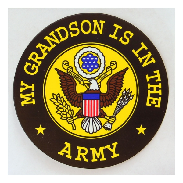 My Grandon Is In The Army Outside Window Decal
