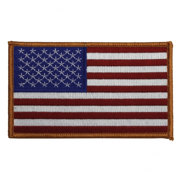American Flag Patch (Gold Border)