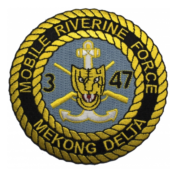 Mobile Riverine Force Mekong Delta 47th Infantry 3rd Battalion Patch