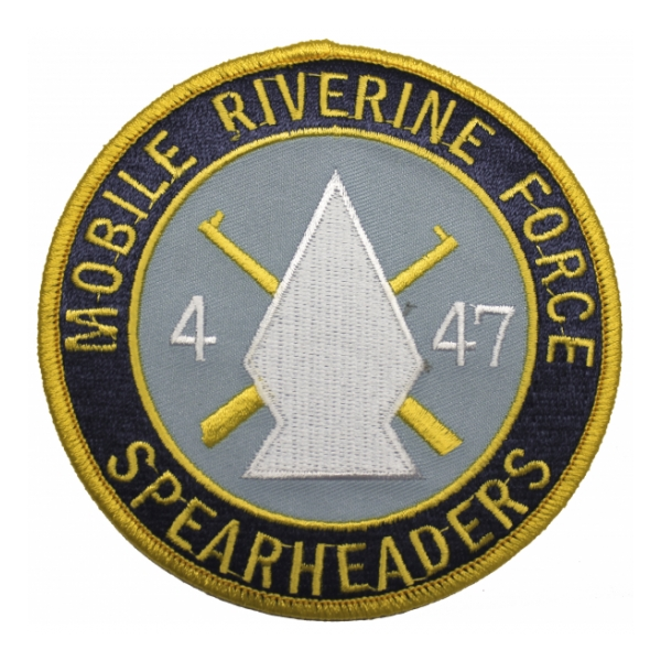mobile riverine force 47th infantry 4th battalion patch