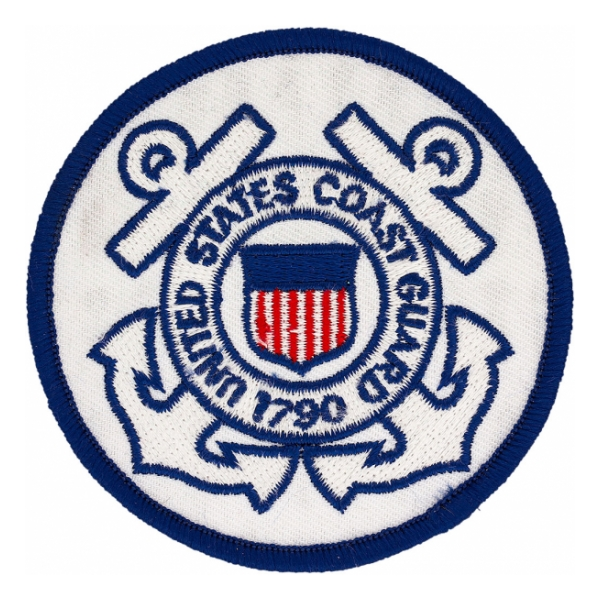 United States Coast Guard Patch w/ Red Text